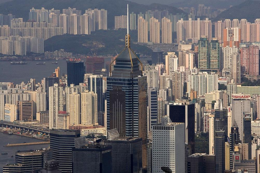 HONG KONG - SEPT 04:  Hong Kong skyline and Victoria Harbor is seen on September 4, 2006 in Hong Kong, SAR China.  (Photo by David Paul Morris)