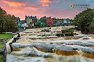Ennistymon Falls on the Cullenagh River in Ennistymon, Ireland