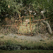 Door made of willow branches. The traditional life of the Wakhi people, in the Wakhan corridor, amongst the Pamir mountains.