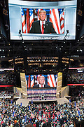 GOP Presidential candidate Donald Trump accepts the party nomination for president on the final day of the Republican National Convention July 21, 2016 in Cleveland, Ohio.