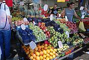 Tel Aviv, Israel, A fruit and vegetable stall at the Carmel Market