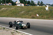 Denny Hulme, 1967 World Champion, in F1 Brabham at 1967 Canadian Grand Prix at Mosport; PHOTO BY Pete Lyons 1967 / www.petelyons.com