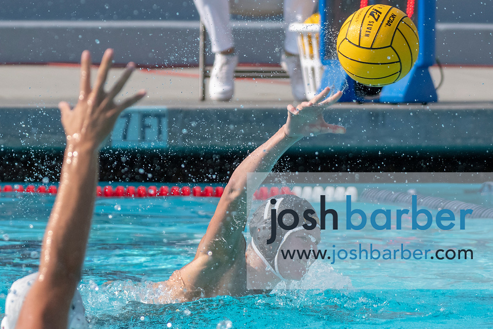 Foothill's Noah Rowe shoots and score during the CIF-SS Division 2 Final at William Woollett Jr. Aquatic Center on Saturday, November 10, 2018 in Irvine, Calif. (Photo by Josh Barber, Contributing Photographer)