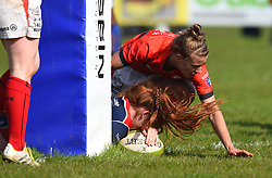 Kayleigh Armstrong of Bristol Ladies scores - Mandatory by-line: Paul Knight/JMP - 09/04/2017 - RUGBY - Cleve RFC - Bristol, England - Bristol Ladies v Saracens Women - RFU Women's Premiership Play-off Semi-Final
