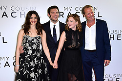 Rachel Weisz, (L - R) Sam Claflin, Holliday Grainger and Iain Glen attending The world premiere of My Cousin Rachel held at Picturehouse Central Cinema in Piccadilly, London.