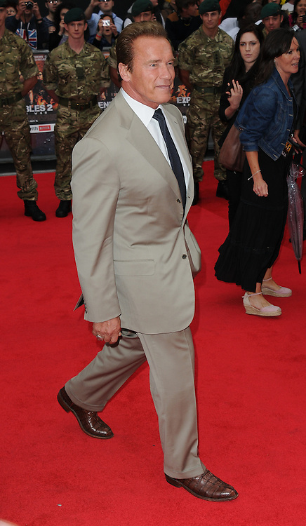 Arnold Schwarzenegger attends the Expendables 2 premiere in Leicester Square, London, UK. 13/08/2012 Anne-Marie Michel/CatchlightMedia