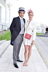 Jodie Kidd and Joseph Bates at the 2d day of The Investec Derby Festival - Derby Day, Epsom Racecourse, Epsom, Surrey, UK. 01 June 2019.
