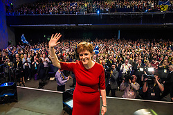 Pictured: Nicola Sturgeon topped the bill on the final day of the SNP conference<br /> The members of the SNP gathered in the Scottish Events Centre in Glasgow for their annual conference.<br /> <br /> Ger Harley | EEm 910 October 2017