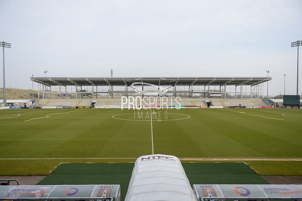 Sixfields stadium new stand building  during the Sky Bet League 2 match between Northampton Town and Cambridge United at Sixfields Stadium, Northampton, England on 12 March 2016. Photo by Dennis Goodwin.