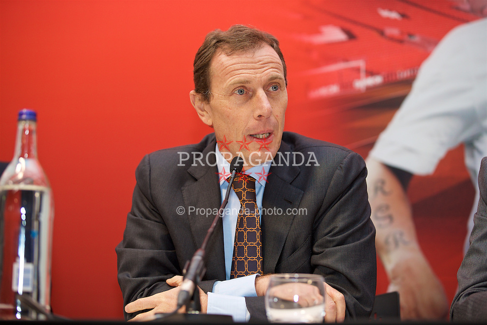 LIVERPOOL, ENGLAND - Monday, December 5, 2016: Emilio Butragueño speaks at a press conference as Liverpool FC Foundation announce a charity match between the Liverpool Legends and Real Madrid to be played at Anfield on Saturday March 25 2017. (Pic by David Rawcliffe/Propaganda)
