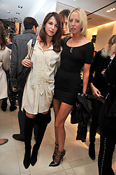 Left to right, CAROLINE SIEBER and the HON.SOPHIA HESKETH at a reception hosted by Vogue and Burberry to celebrate the launch of Fashions Night Out - held at Burberry, 21-23 Bond Street, London on 10th September 2009.