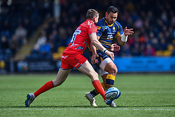 Ben Te'o of Worcester Warriors kicks ahead - Mandatory by-line: Craig Thomas/JMP - 13/04/2019 - RUGBY - Sixways Stadium - Worcester, England - Worcester Warriors v Sale Sharks - Gallagher Premiership Rugby