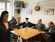 Breakfast in a café. In and around Archane village.