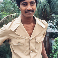 Manik Choudhary, a middle class college student  in Dhaka, Bangladesh, 1977.