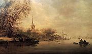 Painting called 'A River Scene' 1643. Jan van Goyen
