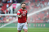 Matty Taylor (10) of Bristol City warming up before the EFL Sky Bet Championship match between Bristol City and Hull City at Ashton Gate, Bristol, England on 21 April 2018. Picture by Graham Hunt.