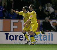 Photo: Steve Bond.<br />Leicester City v Leeds United. Coca Cola Championship. 13/03/2007. Robbie Blake celebrates his goal