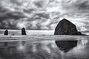 Cannon Beach Oregon at Low Tide