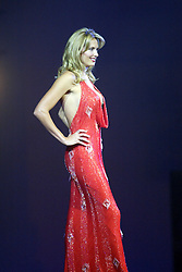 Penny Lancaster, girlfriend of singer Rod Stewart, models items from the new Ultimo Lingerie Show at the Clyde Auditorium, Glasgow. August 30th, 2003.