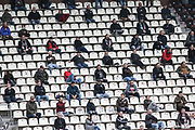 Fussball: 2. Bundesliga, FC St. Pauli - 1. FC Heidenheim, Hamburg, 27.09.2020<br /> Zuschauer, Corona, Tribuene, Fan, Fans<br /> © Torsten Helmke