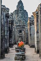 buddha statue prasat bayon temple Angkor Thom Cambodia