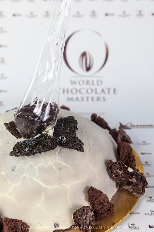 Royce Li's Chocolate Layered Cake. World Chocolate Masters Canadian Selection, January 20, 2013.