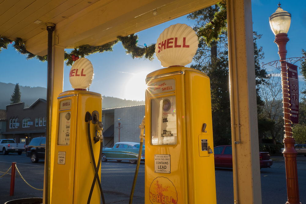United States, Washington, Issaquah, historic gas station