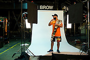 Johny Hendricks poses for a portrait backstage after defeating Robbie Lawler for the UFC Welterweight Championship during UFC 171 at the American Airlines Center in Dallas, Texas on March 15, 2014.