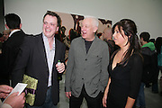TIM STONER,  MICHAEL CRAIG-MARTIN AND ALISON JACQUES, private view  of new exhibition by Tim Stoner , Alison Jacques Gallery in new premises in Berners St., London, W1 ,Afterwards across the rd. at the Sanderson Hotel. 3 May 2007. DO NOT ARCHIVE-© Copyright Photograph by Dafydd Jones. 248 Clapham Rd. London SW9 0PZ. Tel 0207 820 0771. www.dafjones.com.