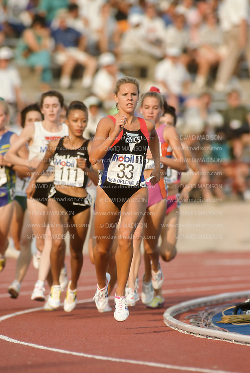 TRACK AND FIELD:  Ceci St. Geme runs in a heat of the Women's 1500 meter event of the 1992 USA Track and Field Olympic Trials held at Tad Gormley Stadium in New Orleans, Lousiana on June 26, 1992.  Photograph by David Madison (www.davidmadison.com)