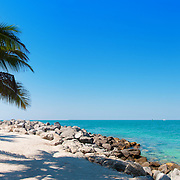 Landscape panorama of Fort Zachary Taylor beach on Key West (Florida, USA)