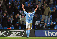 Photo: Paul Thomas.<br />Manchester City v Scunthorpe United. The FA Cup.<br />07/01/2006.<br />Man City's Robbie Fowler celebrates his second goal.