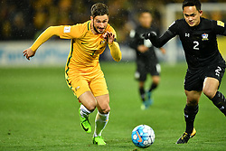 September 5, 2017 - Melbourne, Victoria, Australia - MATHEW LECKIE (7) of Australia runs with the ball during the 2018 FIFA World Cup Qualifier match between Australia and Thailand at AAMI Park, Melbourne, Australia. Australia won 2-1 (Credit Image: © Sydney Low via ZUMA Wire)