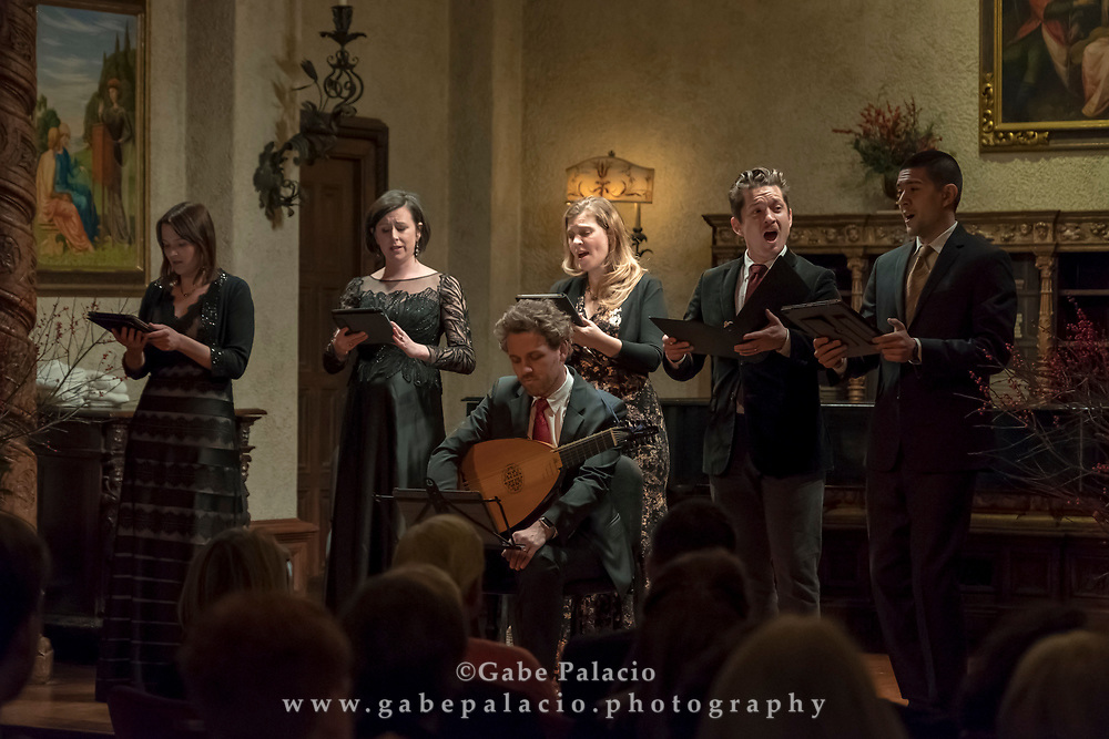 Tenet performs in the Music Room of the Rosen House at Caramoor in Katonah New York on December 16, 2017. <br /> (photo by Gabe Palacio)