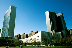 New York: Manhattan, UN building,  Photo: nymanh101.Photo copyright Lee Foster, www.fostertravel.com, 510/549-2202, lee@fostertravel.com