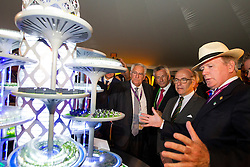 Dr. Pearse Lyons, (IRL), Founder and President of Alltecht, Dupont Jean-Léonce, (FRA), Beauvais Laurent, (FRA) in The Alltech Experience<br /> Alltech FEI World Equestrian Games™ 2014 - Normandy, France.<br /> © Hippo Foto Team - Leanjo de Koster<br /> 25/06/14