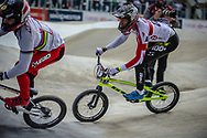 #87 (WHYTE Kye) GBR at Round 2 of the 2019 UCI BMX Supercross World Cup in Manchester, Great Britain