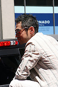 Ichiro Suzuki at the Major League Baseball All-Stars and 49 Hall of Famers ride up Sixth Avenue in All Star-Game Red Carpet Parade Presented by Chevy on July 15, 2008