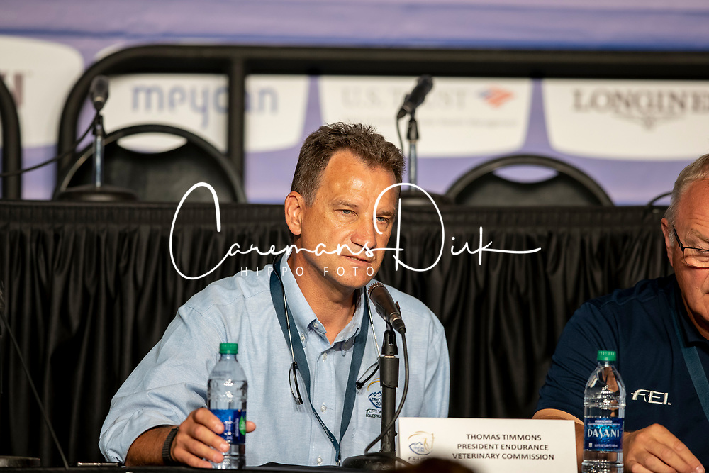 Timmons Thomas, President Endurance, Veterinary commission<br /> World Equestrian Games - Tryon 2018<br /> © Hippo Foto - Dirk Caremans<br /> 14/09/18