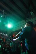 Juan Cirerol performing in a concert at La Pulquería, Mexico City, April 2012