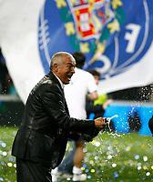 20090510: PORTO, PORTUGAL - FC Porto vs Nacional da Madeira: Portuguese League 2008/2009, 28th round. In picture: Jesualdo Ferreira (Porto coach) celebrating the victory. PHOTO: Ricardo Estudante/CITYFILES