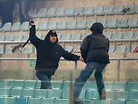 Roma 5 Febbraio 2003 - Coppa Italia<br />Lazio-Roma 1-2<br />Engagements between Lazio and Roma Fans before the match