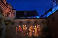 France, Cher (18), Bourges, illuminations du parcours, Les nuits lumières de Bourges, hotel Lallement, Musée des arts décoratifs // France, Cher (18), Bourges, illumination during Les nuits lumières de Bourges, hotel Lallement, Musée des arts décoratifs