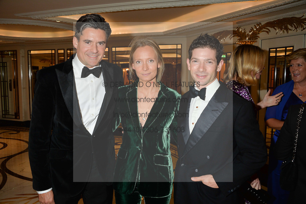 Left to right, EDWARD TAYLOR, MARTHA WARD and SAM WALEY-COHEN at the 26th Cartier Racing Awards held at The Dorchester, Park Lane, London on 8th November 2016.