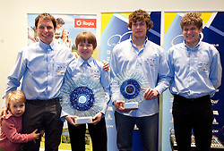Primoz Strancar, Tanja Zakelj, Nejc Rutar and  ... of team MBK Orbea during the Slovenia's Cyclist of the year award ceremony by Slovenian Cycling Federation KZS, on December 11, 2010 in Hotel Mons, Ljubljana, Slovenia. (Photo By Vid Ponikvar / Sportida.com)