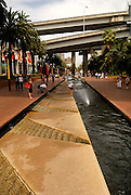 Water-course and fountains, Darling Harbour, Sydney, Australia
