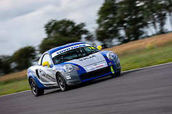 Jim Mew pictured while competing in the 750 Motor Club's Toyota MR2 Championship. Picture taken at Snetterton on July 18, 2020 by 750MC photographer Jonathan Elsey