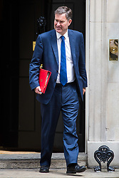 London, July 4th 2017. Secretary of State for Work and Pensions David Gauke leaves the weekly cabinet meeting at 10 Downing Street in London.