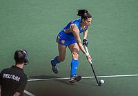 AMSTELVEEN - Malou Pheninckx (Ned)  tijdens  de halve finale dames wedstrijd , Nederland-Belgie (3-1),  bij het EK hockey. Nederland plaatst zich voor de finale.   COPYRIGHT KOEN SUYK