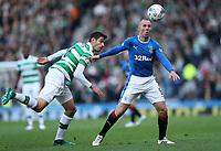 Football - 2016 / 2017 Scottish League Cup - Semi-Final - Celtic vs. Rangers<br /> <br /> Kenny Miller of Rangers and Nir Britton of Celtic at Hampden Park.<br /> <br /> COLORSPORT/LYNNE CAMERON